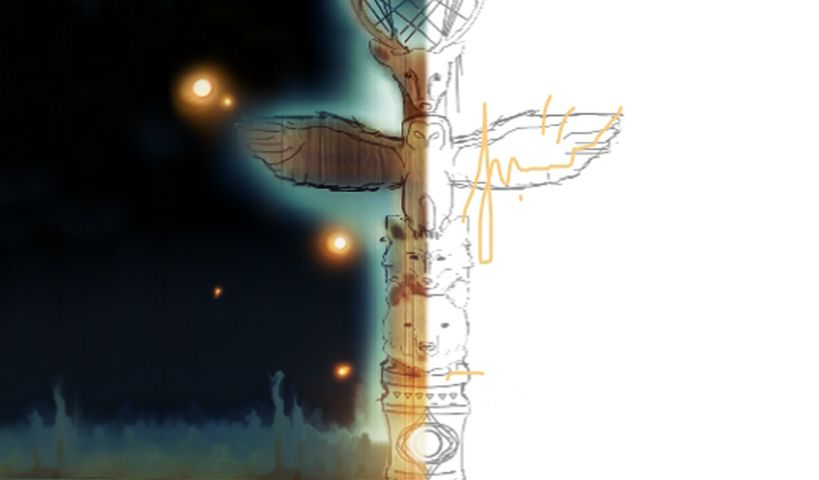 totem pole drawing tutorials