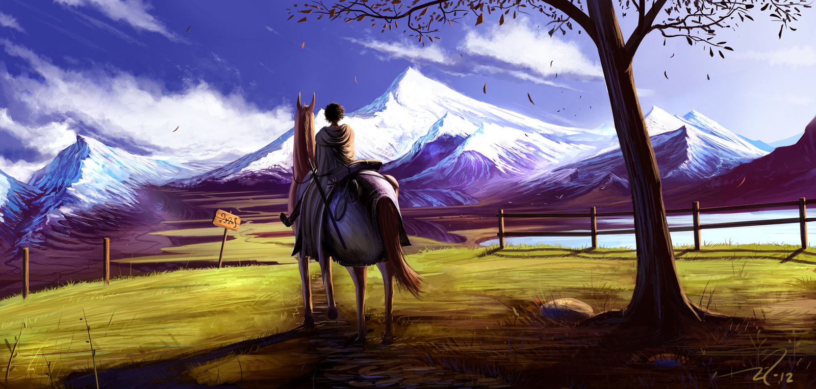 Anime Landscape Sky Horse Collection 11 Wallpapers