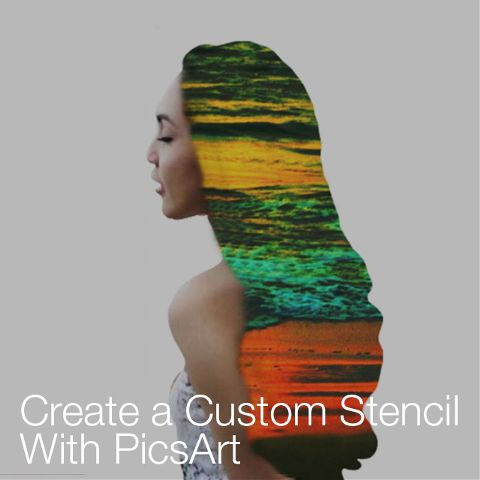 how to create a custom stencil with PicsArt