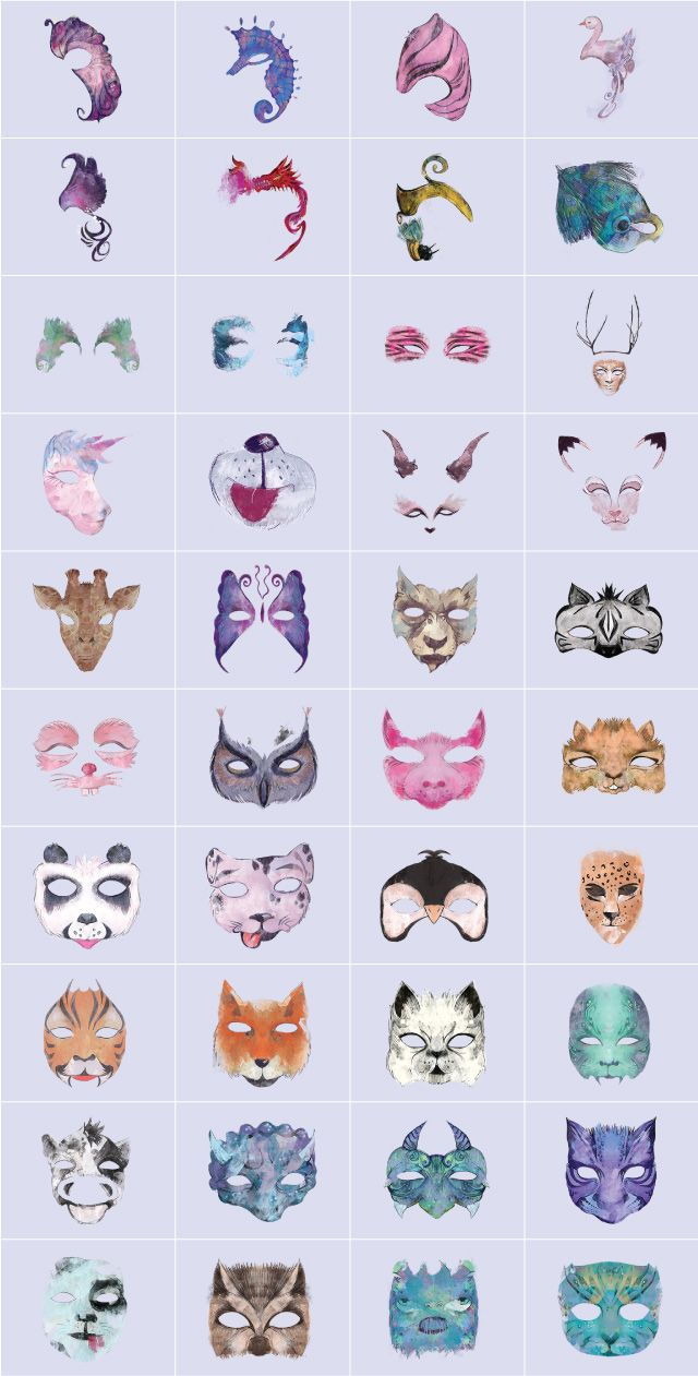 animal face paint clipart