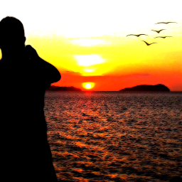 silhouette sunset people sunsetsilhouette
