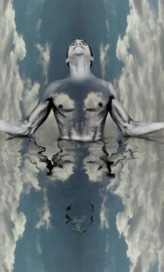 clouds reflection undefined love edited