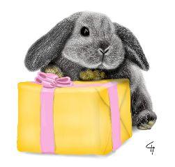 picsart drawing bunny dcbunny