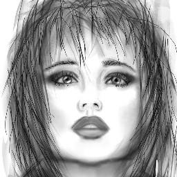 digital drawing blackandwhite portrait kimferris