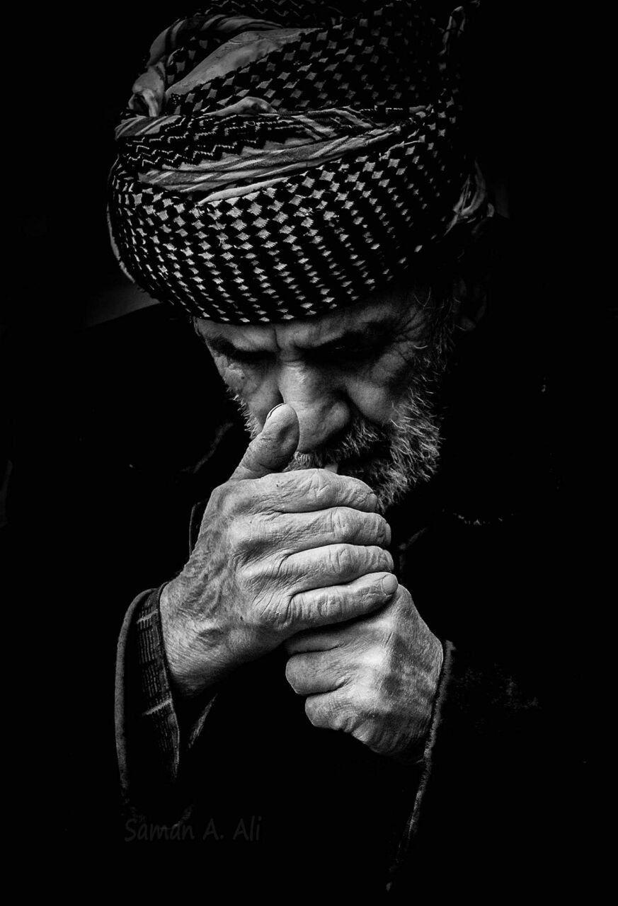 blackandwhite photography man kurdish oldman