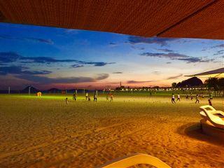 beach sun copacabana brazil