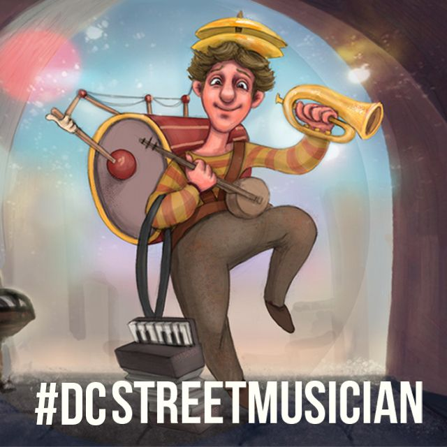 street musician drawing contest