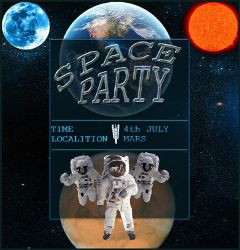 gdpartyinvitation allien picture world space