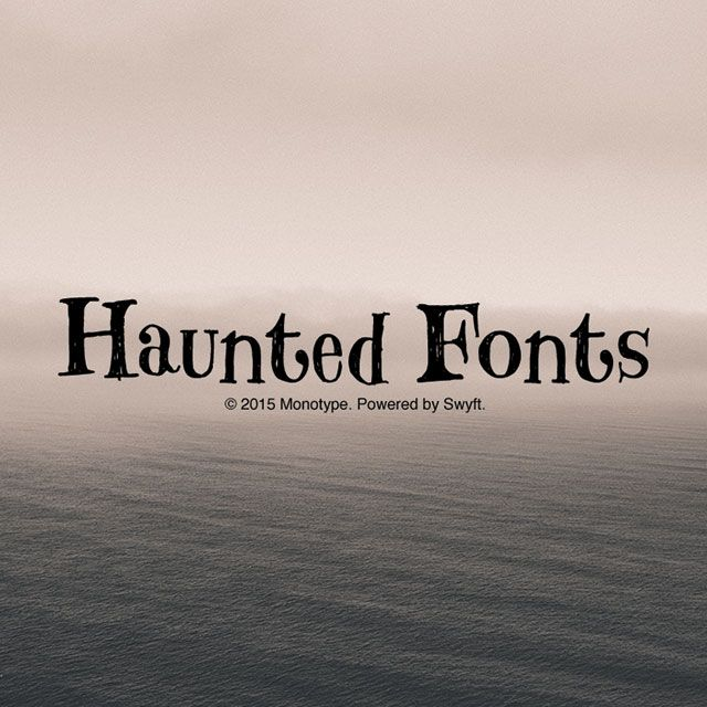 haunted fonts