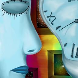 dcwallclock colorful drawing surreal abstract