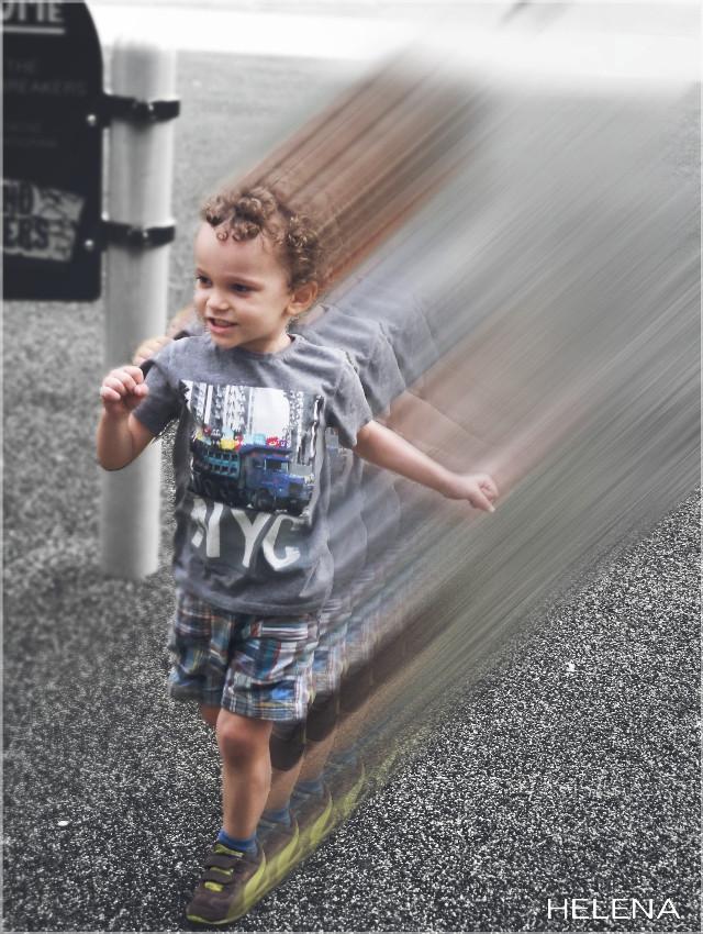 My little speedster :)  #motionblur #cute #love #people #family #colorsplash #motion