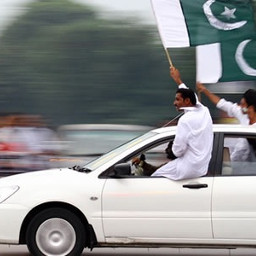 car pakistan flag teenagers proud