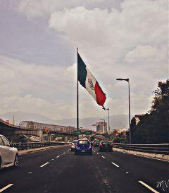 cars travel mexico city flag