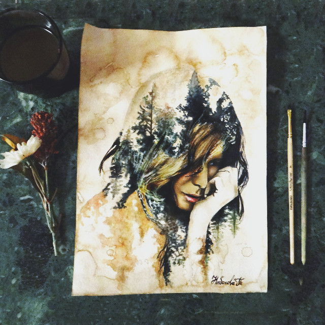 #mydrawing #drawing #art #portrait #atmosphere #girl