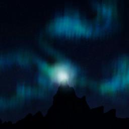 dcnightsky drawing polarlights night