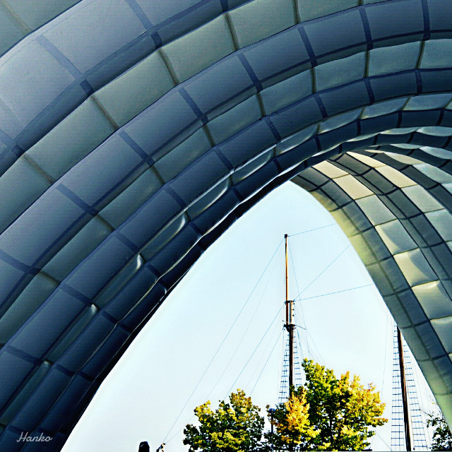 Under the cooling dome at Harbourfront Center in Toronto.  #picsart #photography #summer #summerstory #toronto