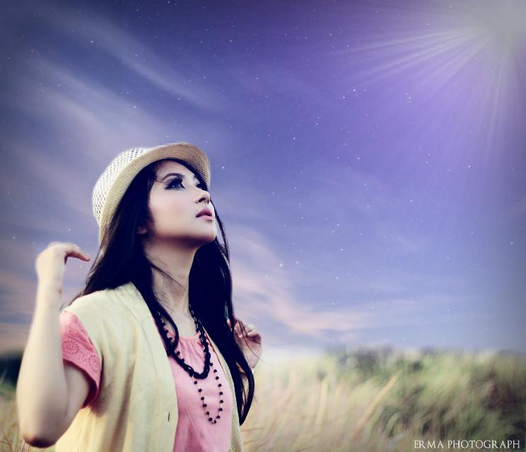 Beautiful girl  #photography #colorful #bokeh #cute #vintage