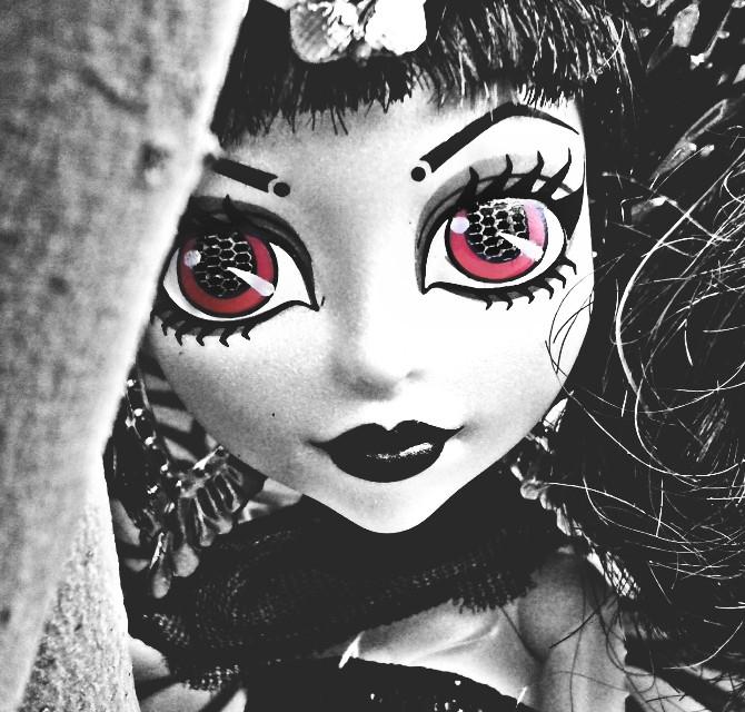 #monsterhigh  #doll #blackandwhite   #doll #hair