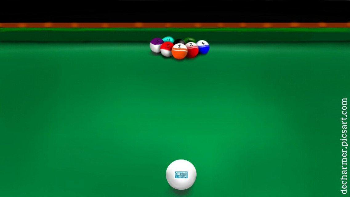 """""""Game's On"""" Who wanna play? 🎱 Reference taken frm Pool game in my mobile. Used 100%PicsArt tools.  Hope u like my drawing. Express ur view 💬 through Comments, likes and report below.  #drawing #art #digitaldrawing #pool #game #colorful #cute"""