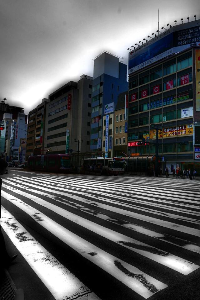Pedestrian Lines   #colorsplash  #lines  #street  #architecture  #blur
