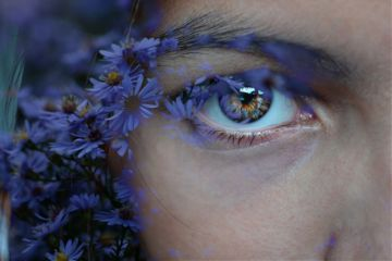 edit freetoedit eye flowers purple